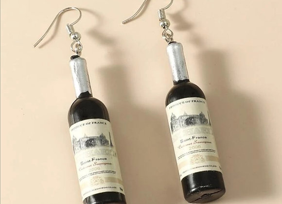 Wine Drop Earrings