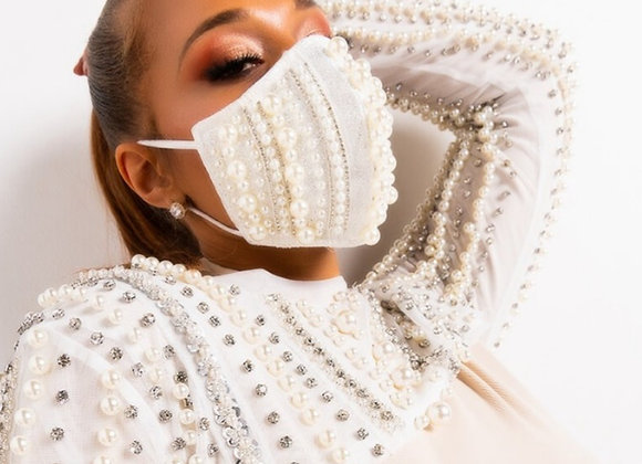 Covered in Pearls Mask