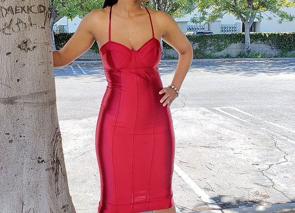Cranberry Juice Pencil Dress