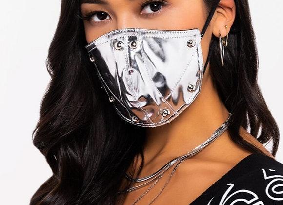 Silver Metallic Silence Mask