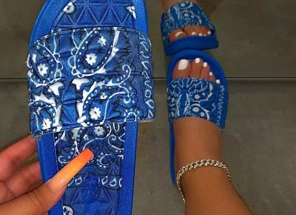 Paisley Print Slippers