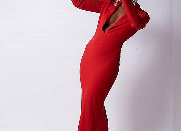 Red Tuxedo Dress