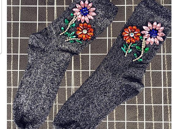 Dorothy Glitter Sock