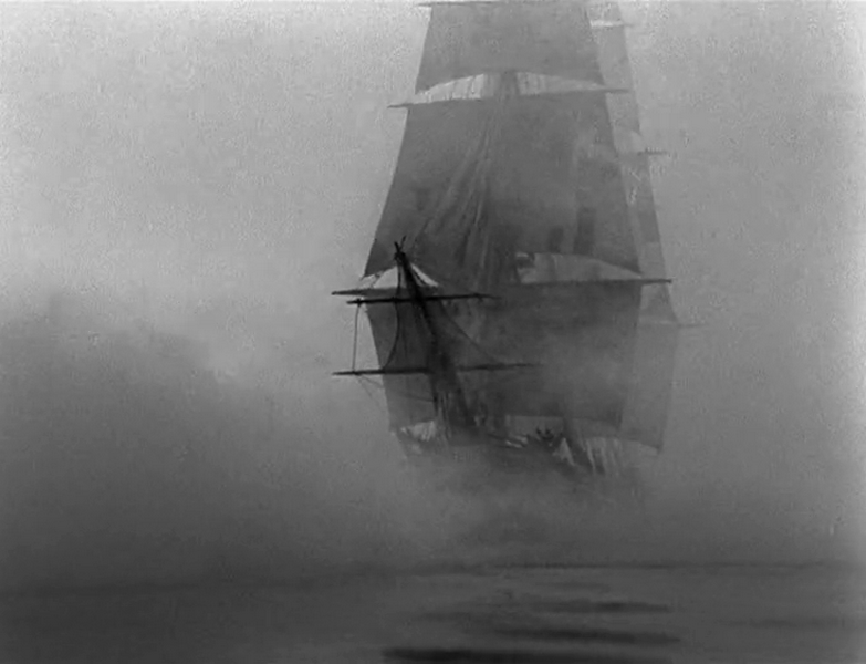 Ship in fog