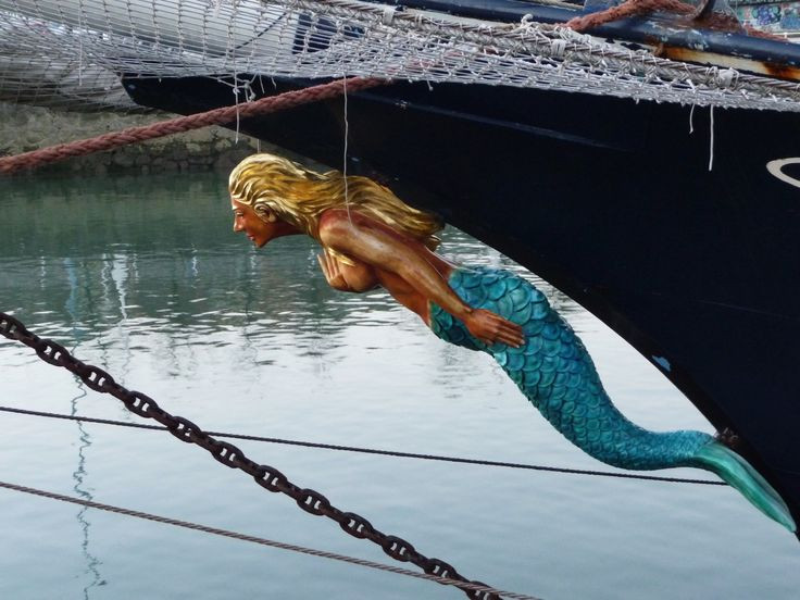 Figurehead of a mermaid