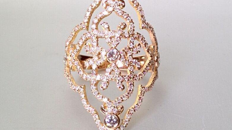 Rose gold vintage ring