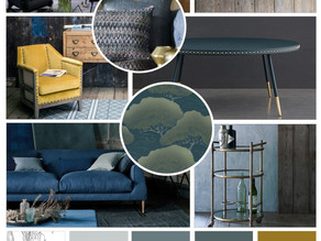 Copper and Teal right on trend...