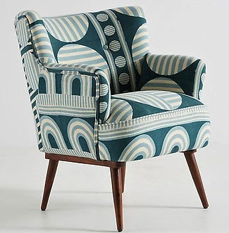 anthropologie upholstered chair with pat
