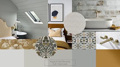 mood board landscape feature loft room I
