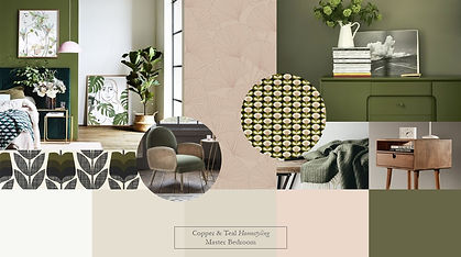 mood board landscape feature master bed