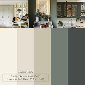 Colour board trend colours 2021 natural
