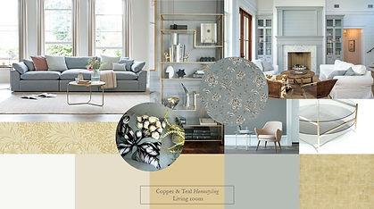 mood board landscape feature living room