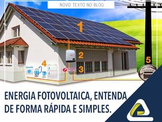 Energia fotovoltaica, entenda de forma rápida e simples.