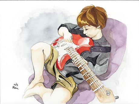 Ita on guitar