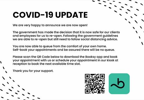 Covid Update Sign