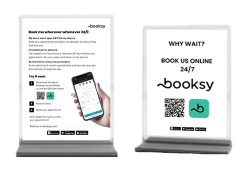 Book with Booksy Sign