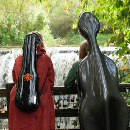 At Rouken Glen waterfall