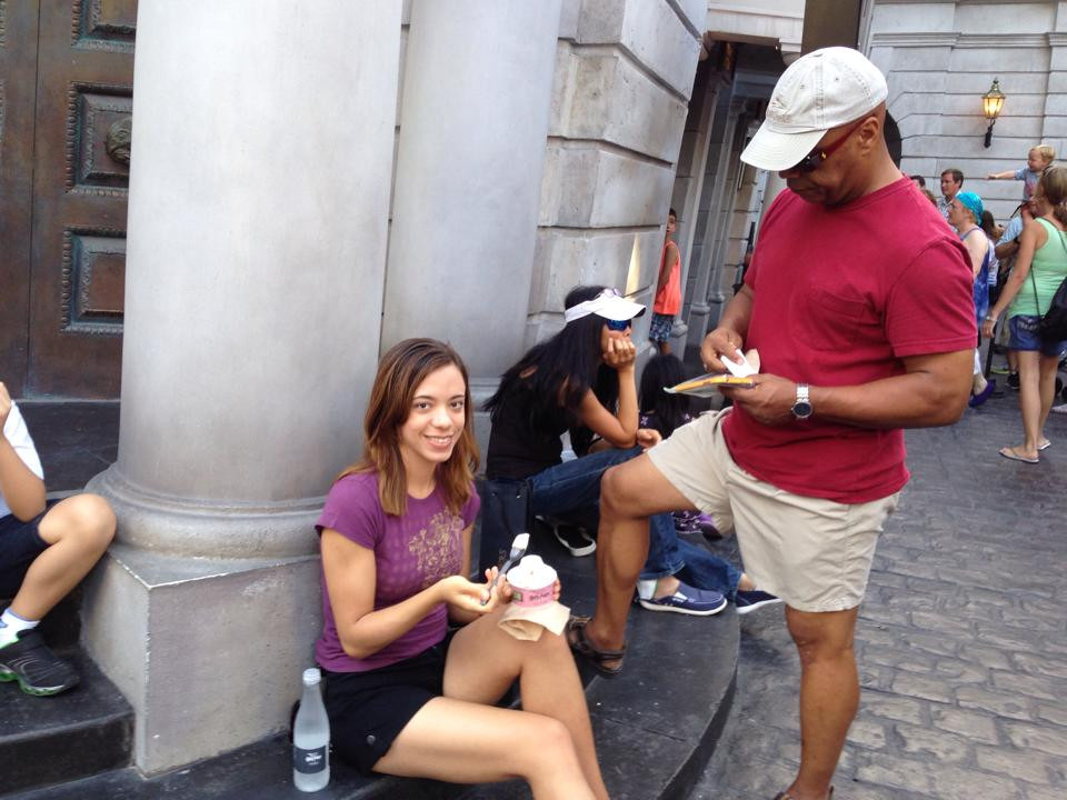Katrina Belle - Katrina Belle Beauty - Orlando fashion blogger - Universal Orlando blogger - The Wizarding World of Harry Potter  - Diagon Alley - Butterbeer ice cream - Gringotts