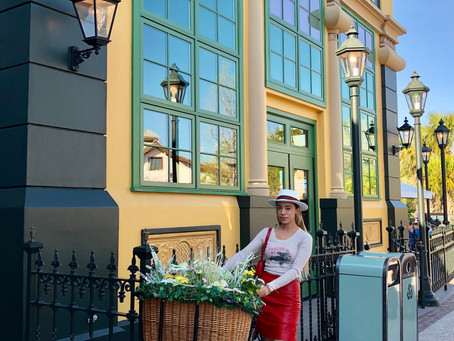 What To Wear To Disney: Red Leather Skirt
