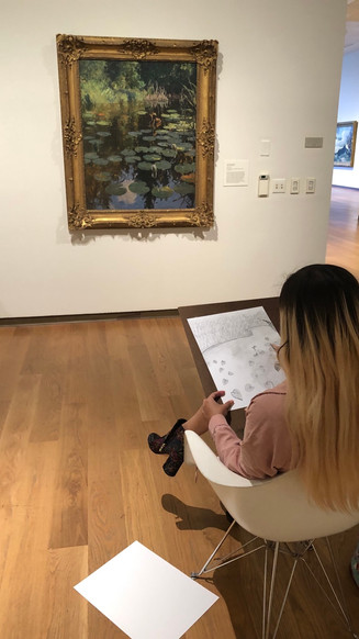 Drawing in the Galleries at the Orlando Museum of Art