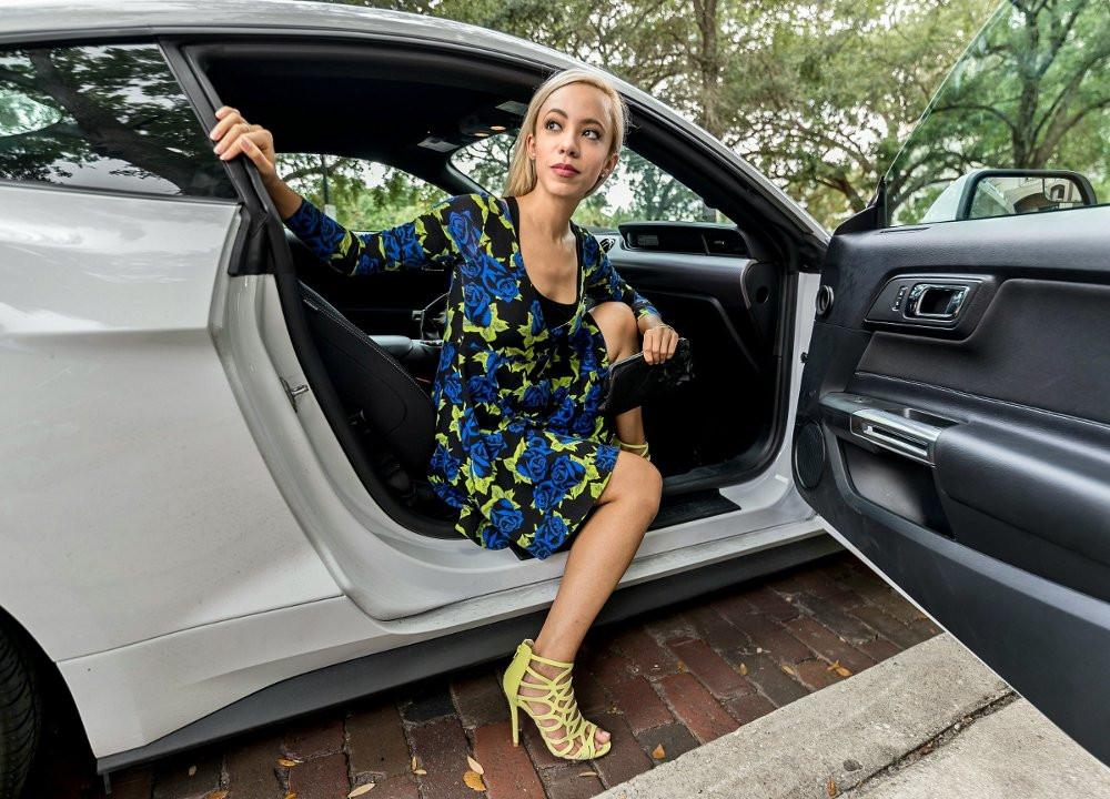 Katrina Belle - Katrina Belle Beauty - Orlando Florida fashion blogger - Downtown Orlando - Lake Eola - Betsey Johnson dress