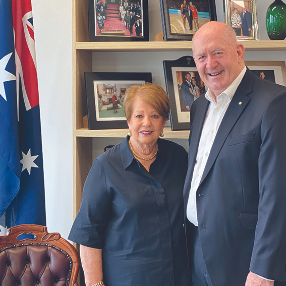 Lady Lynne and General Sir Peter Cosgrove, former Governor General of Australia