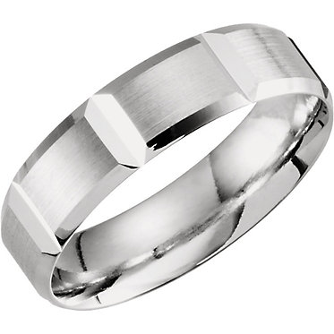 The Light Grooved Wedding Ring