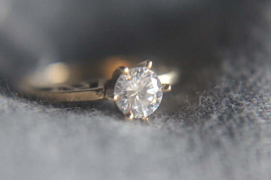The Solitaire Gold Ring (CZ)