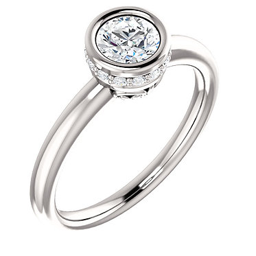 The Accented Bezel Solitaire (Round)