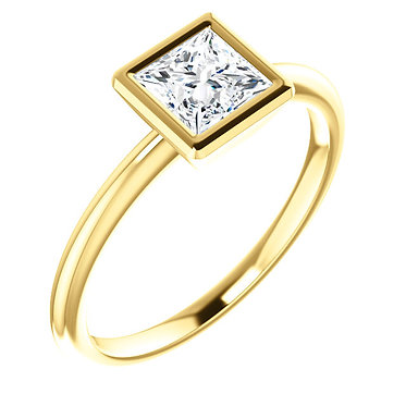 The Bezel Solitaire (Square)