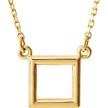The Minimal Square Pendant & Necklace