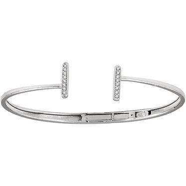 The Diamond Accented T-Bar Cuff Bracelet