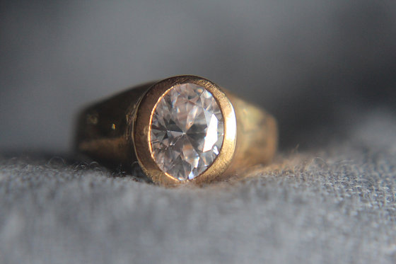 The Gold Bezel Oval Ring