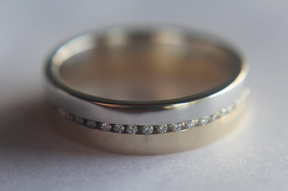 The Two Tone Diamond Wedding Ring