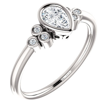 The Accented Bezel Pear Solitaire