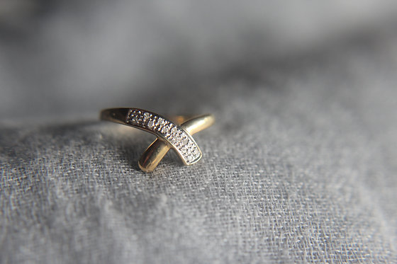 The Delicate Over Diamond Ring