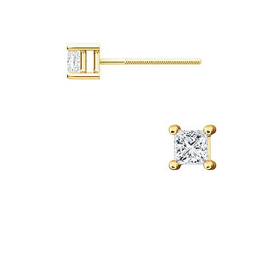 The Square 4 Prong Diamond Earrings