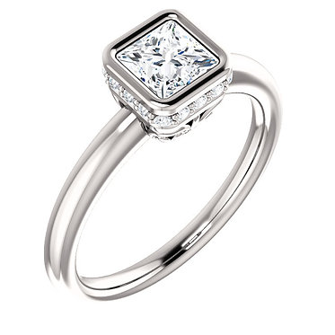 The Accented Bezel Solitaire (Square)