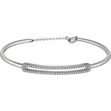 The Diamond Open Cuff Bracelet