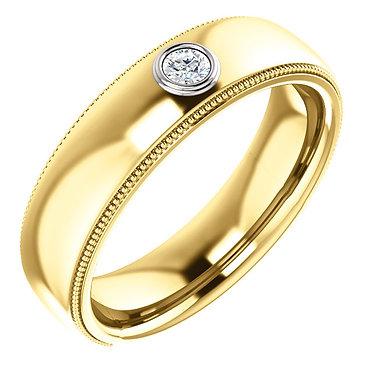The Bezel Set Wedding Ring