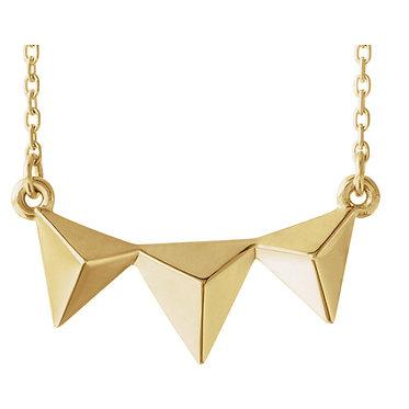 The Triple Triangle Pendant & Necklce