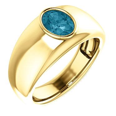 The Oval Bezel Ring