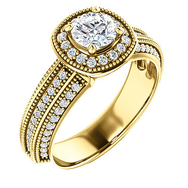 The Round Accented MG Ring