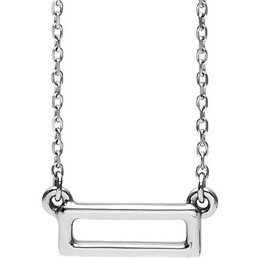 The Minimal Rectangle Outline Pendant