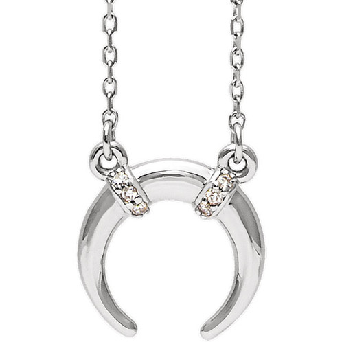 The diamond moon necklace pendant engagement wedding rings i1 clarity aloadofball Image collections