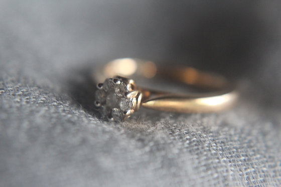 Diamond Cluster Gold Ring