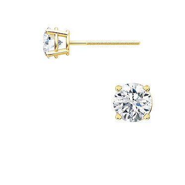 The Round 4 Prong Diamond Earring