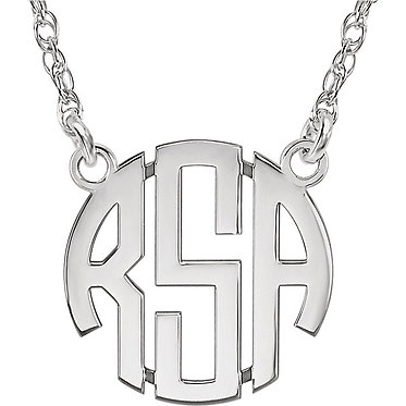 The Bold Monogram Pendant & Necklace