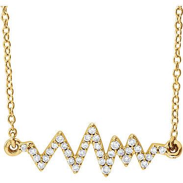 The Minimal Heartbeat Pendant & Necklace