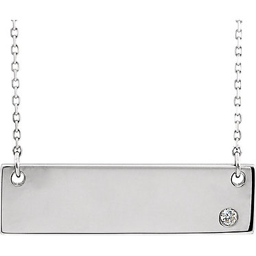 The Horizontal Bar DIAMOND Pendant